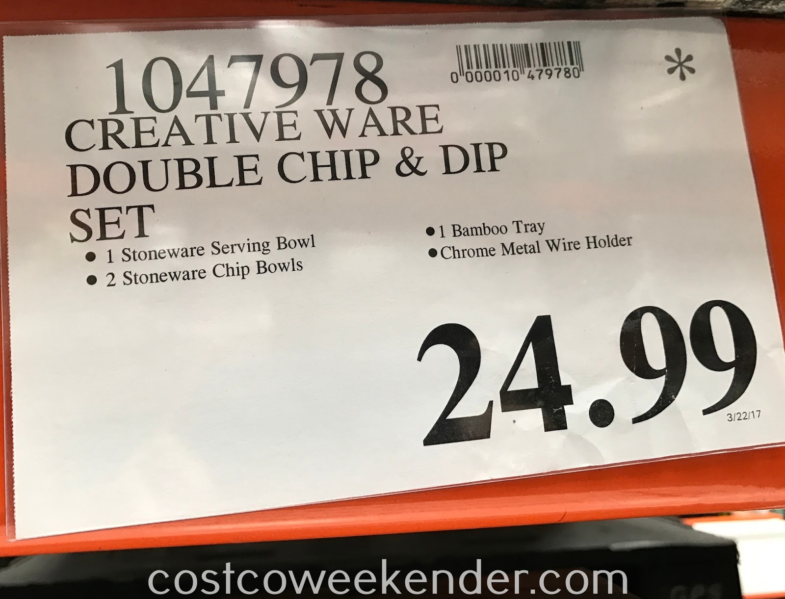 Deal for the CreativeWare Ceramic Serving Set at Costco