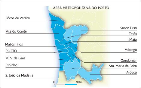 mapa da area metropolitana do porto GEOGRAFIA 11: Lição nº 67 e 68: Área Metropolitana do Porto mapa da area metropolitana do porto