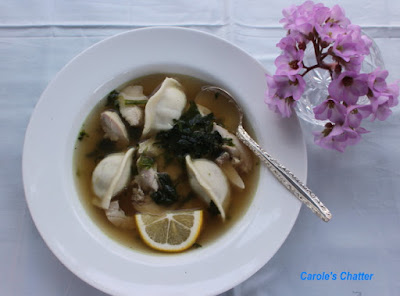 Carole's Chatter: Chicken Dumpling Soup with Spinach