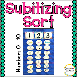 Subitizing Sort: Introduce or review numbers 0-10 with different representations of the numbers