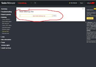 Cara Submit Blog, Add Site dan Verifikasi Meta Tag di Yandex