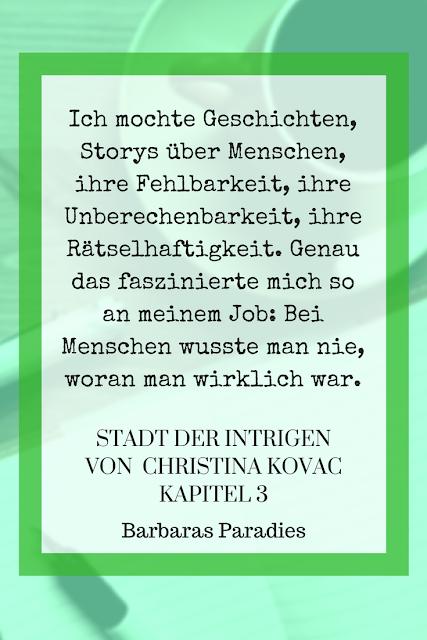 Buchrezension #134 Stadt der Intrigen von Christina Kovac