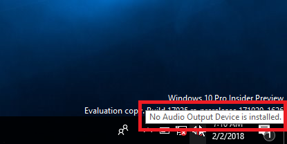 no audio output device installed windows 7 sony vaio