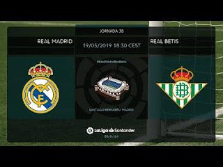 اون لاين مشاهدة مباراة ريال مدريد وريال بيتيس بث مباشر الدوري الاسباني اليوم 19-5-2019 اليوم بدون تقطيع