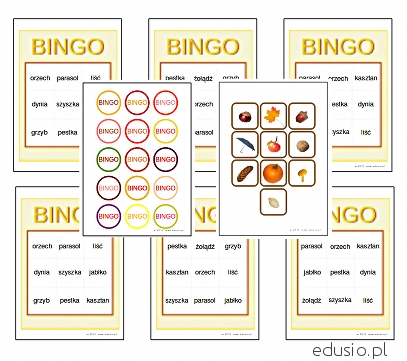 bingo dla przedszkolaków do wydrukowania