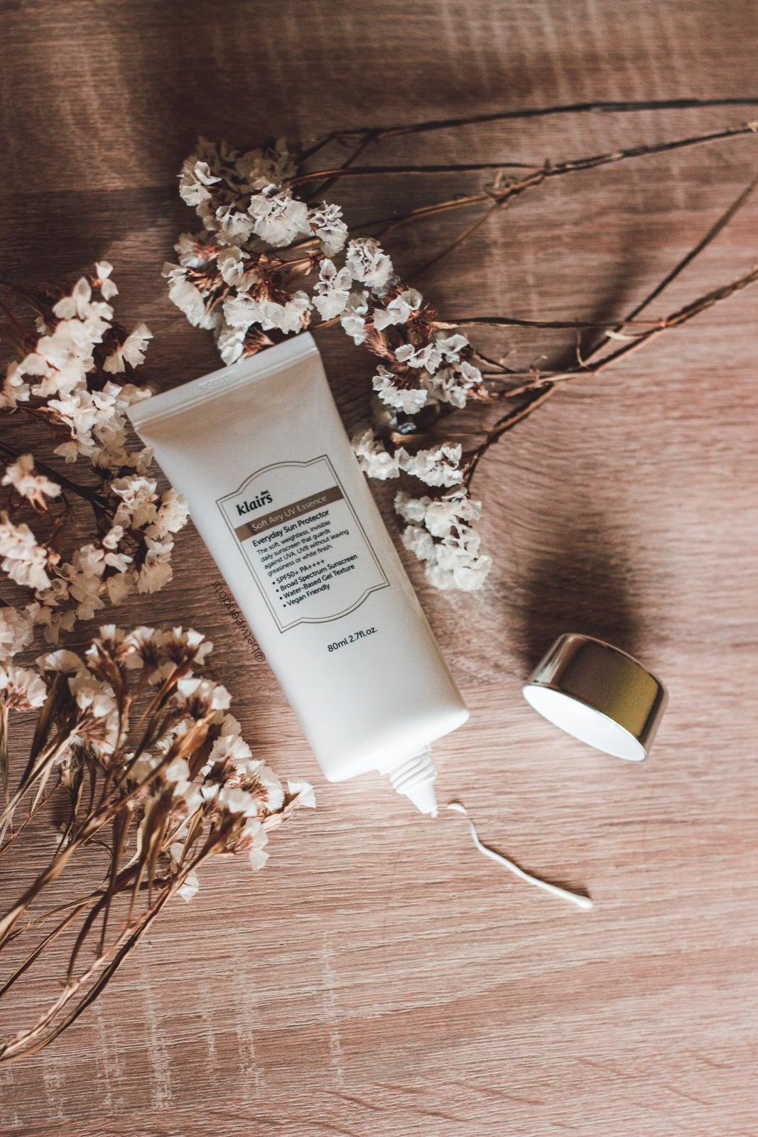 Klairs Soft Airy UV Essence SPF 50 PA ++++ sunscreen