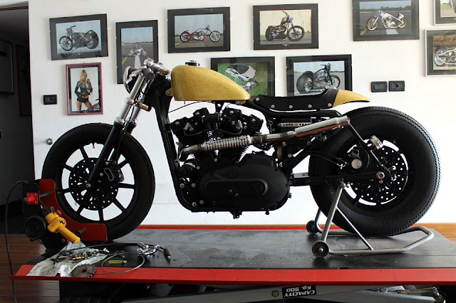 Harley Sporster Cafe - found on RocketGarage