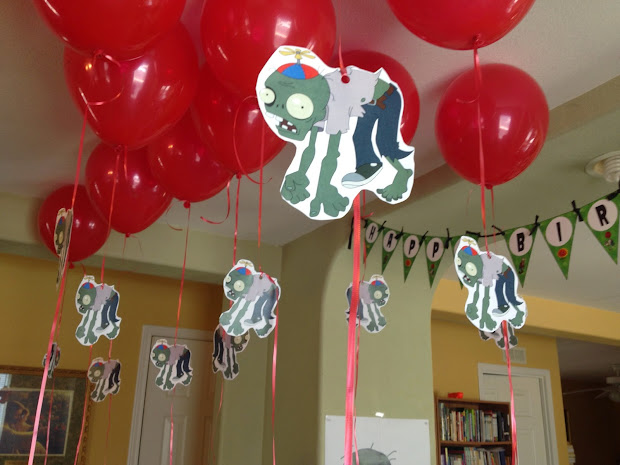 Plants Vs Zombies Birthday Party Decorations