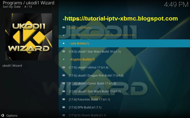 Guide Install Ukodi1 Builds Wizard Kodi 18 Leia, 17 Krypton