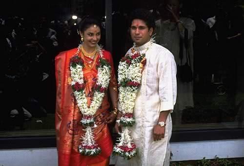 Anjali Tendulkar marriage photo with Sachin