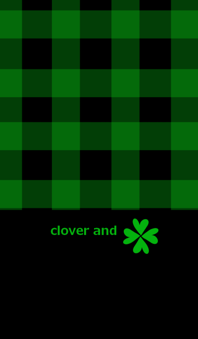Clover and check pattern 5