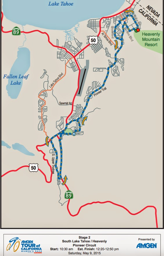 Tour of California Women Stage 2 Map 2015