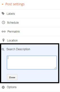 search description in google blog how to set