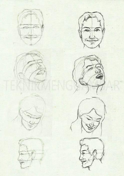 Teknik Menggambar Ekspresi Wajah Manusia Teknik Menggambar