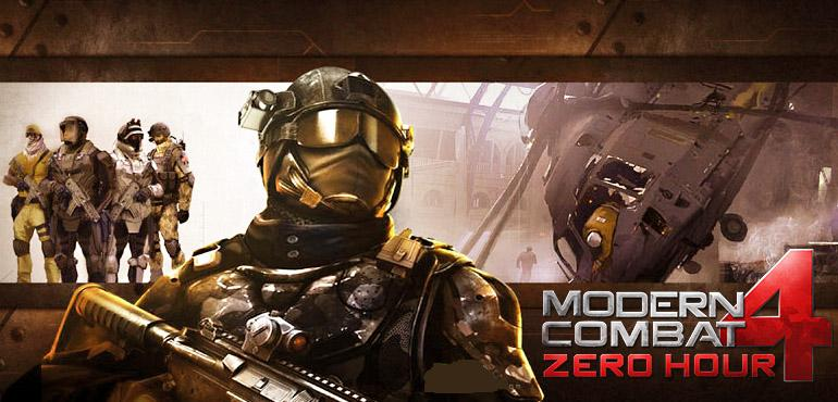 Modern Combat 4 full APK and data files Free Download for Android
