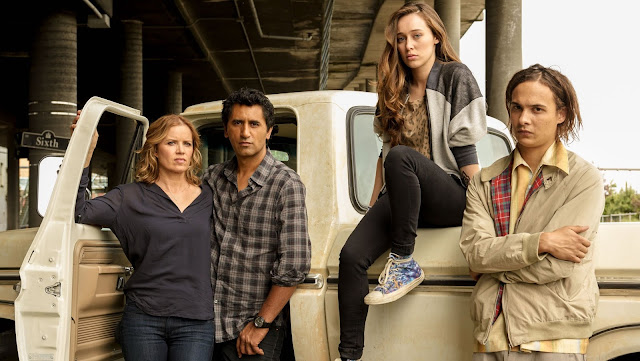 Fear the Walking Dead Kim Dickens, Cliff Curtis, Frank Dillane, Alycia Debnam-Carey