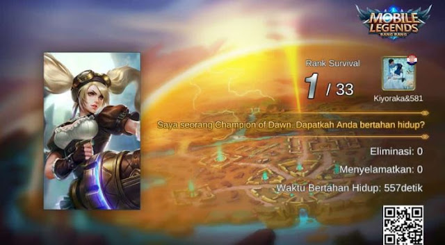 Juara Mode Survival Mobile Legends