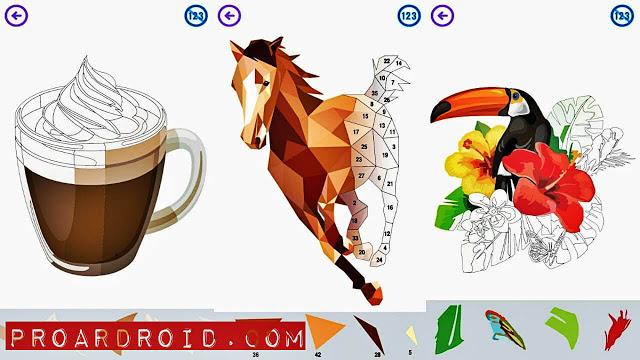 لعبة Color by Number - Poly Art v4.8 كاملة للأندرويد (اخر اصدار) logo