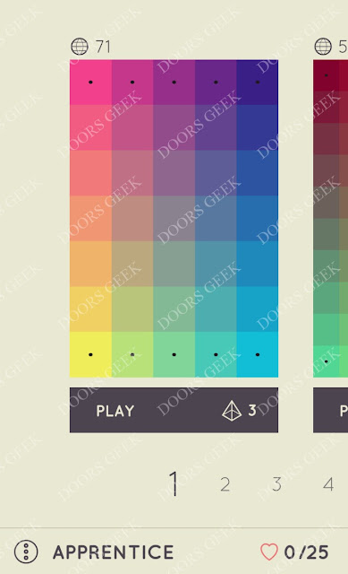 I Love Hue Apprentice Level 1 Solution, Cheats, Walkthrough