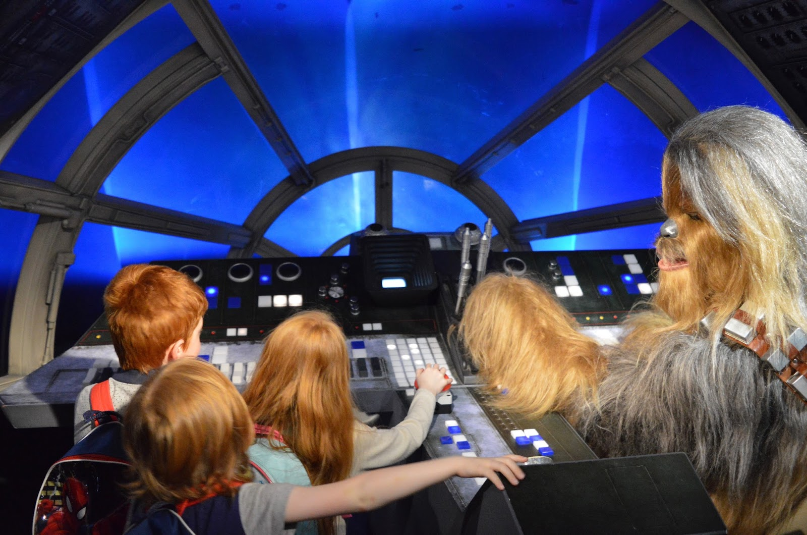 A family day trip to London with Virgin Trains East Coast - Madame Tussauds Millennium Falcon and Chewbacca