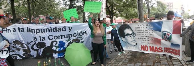 Con masiva vigilia en el Alto Manhattan dominicanos piden cárcel a imputados de sobornos Odebrecht