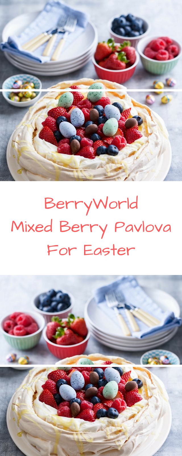 BerryWorld Mixed Berry Pavlova For Easter