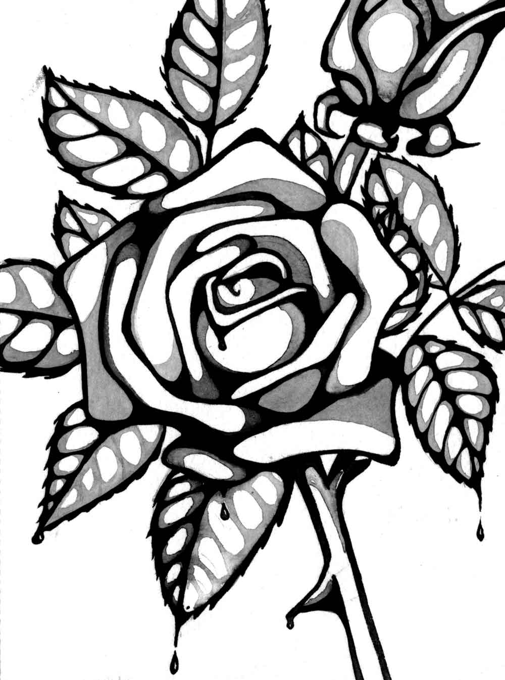 coloring book pages of roses - photo#37