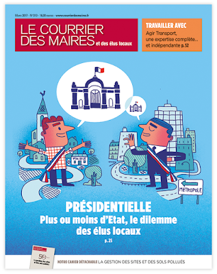 Clod illustration couverture du Courrier des Maires de mars 2017
