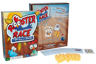 A fun family game, Rooster Race, designed and illustrated by Traci Van Wagoner and Kurt Keller