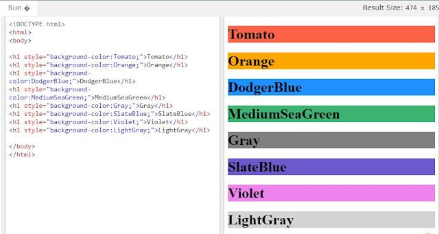 Memberi Warna HTML dengan Nama Warna