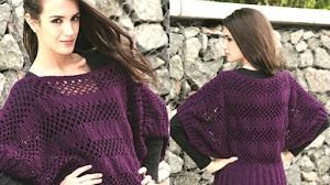 Suéter Manga Murciélago a Crochet / Paso a paso
