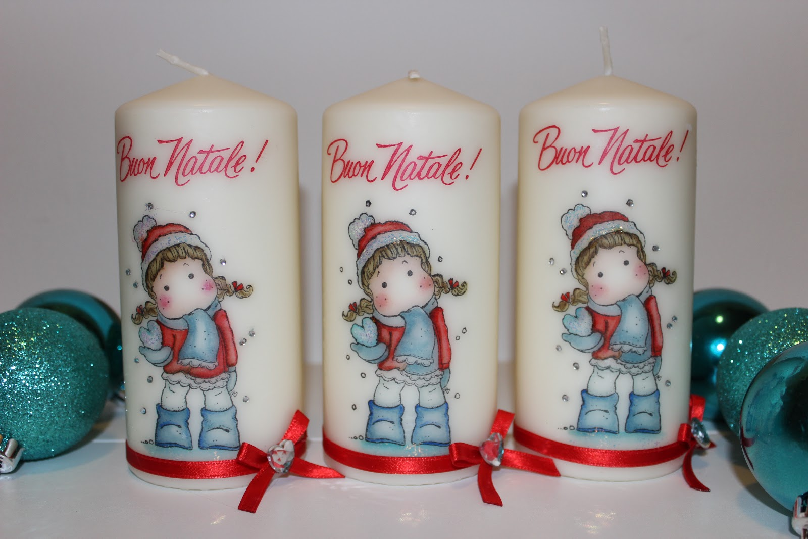 Favoloso Le creazioni di Maichi: Candele decorate BL14