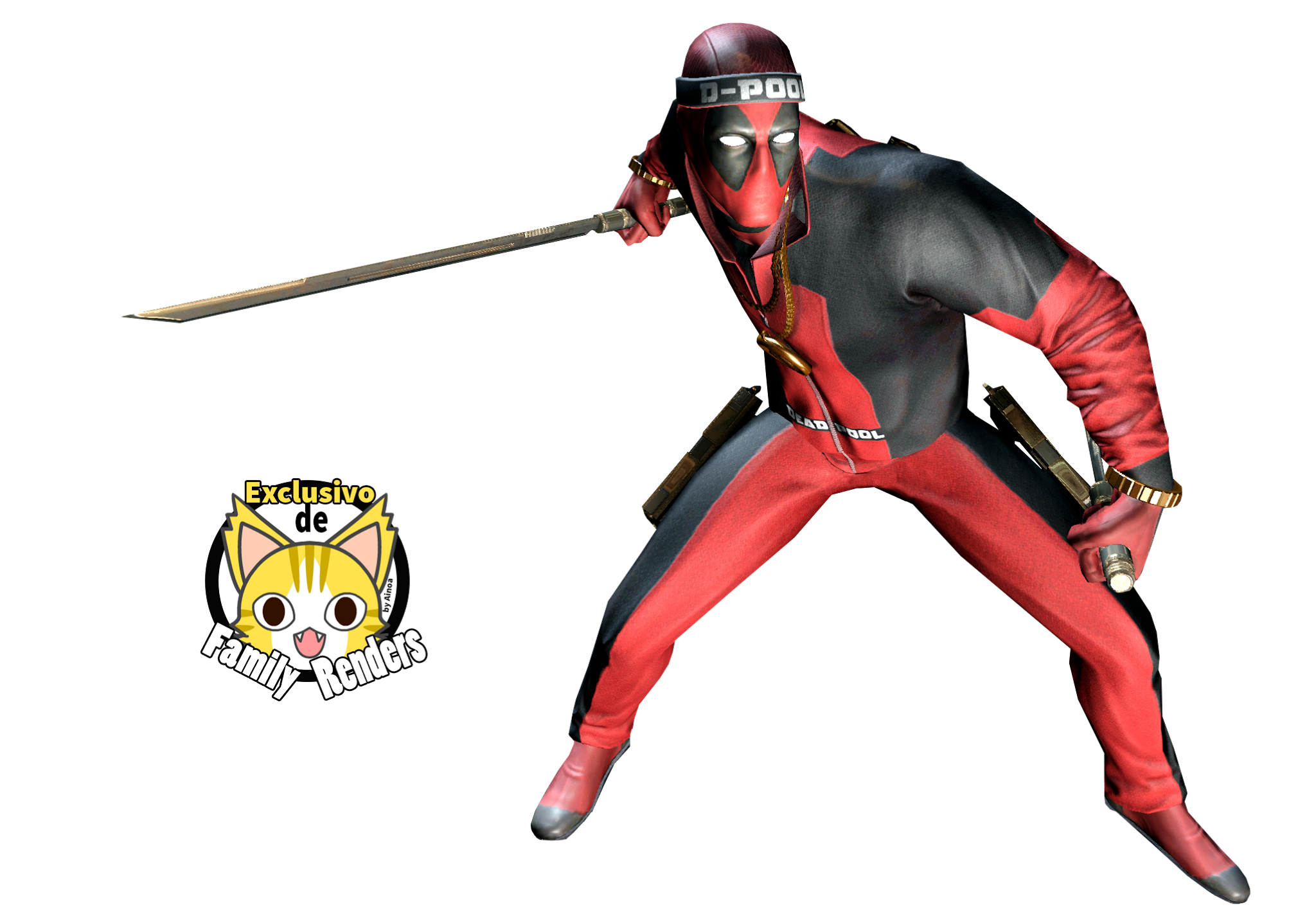 render deadpool samurai