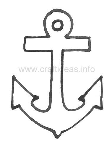 Anchor Stencil Printable