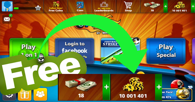 coins 8 ball pool free