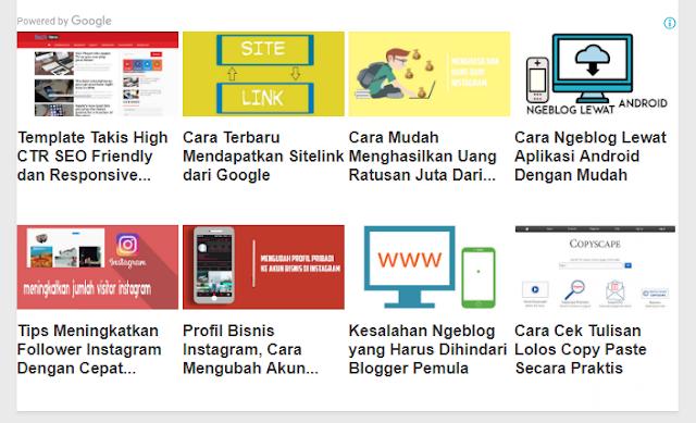 Terbaru! Cara Mendapatkan Iklan Matched Content DI Blog 2018