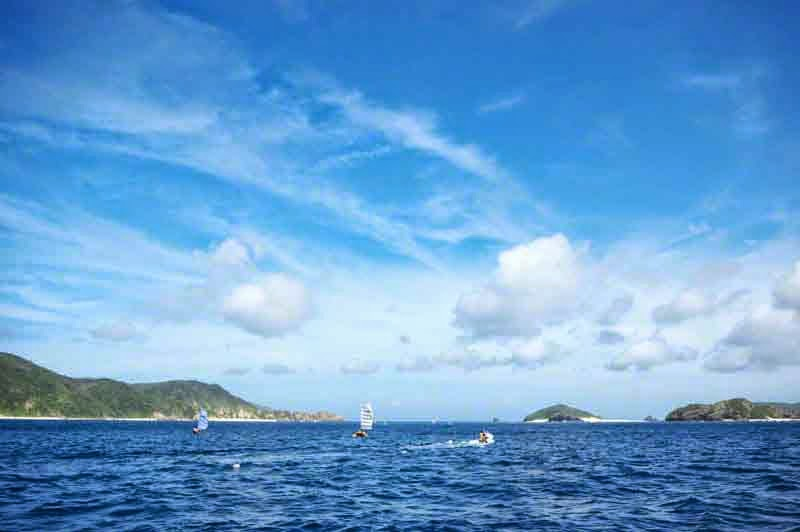 Zamamijima,islands,sailing sabani boats