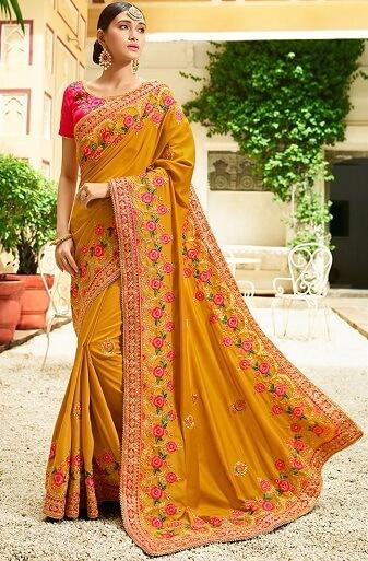 Bangalore Designer Work Saree
