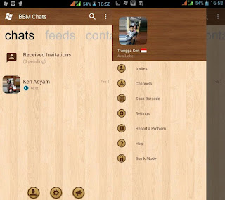 BBM Mod WP V3.2.5.12 Wood [BBM Windows Phone Wood Theme]