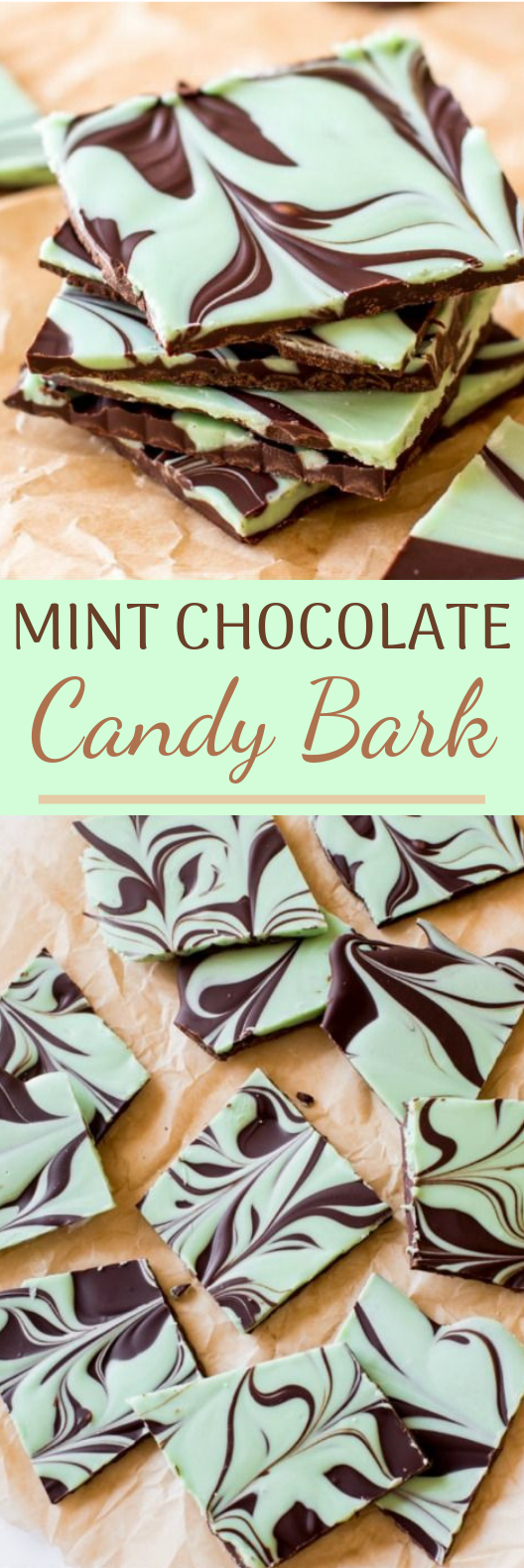 Mint Chocolate Candy Bark #desserts #chocolate