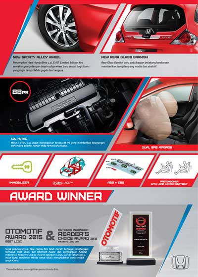 Honda Brio Baru Bandung