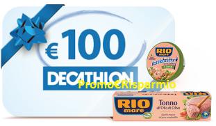 Logo ''Vivi Leggero'' e con Rio Mare vinci 87 buoni Decathlon da 100 euro