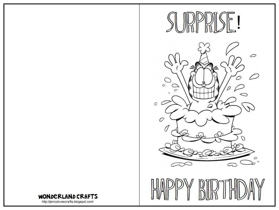 Free Printable Birthday Card Coloring
