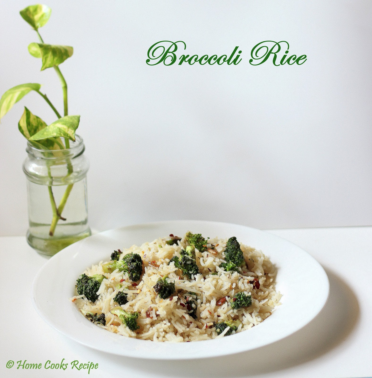 Broccoli Rice for kids lunchbox | Home Cooks Recipe