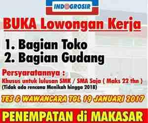 Lowongan Kerja Bagian Toko dan Gudang Indogrosir Makassar