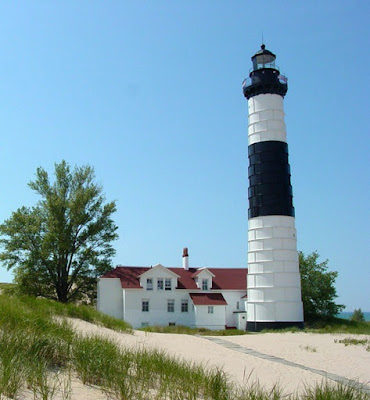 Big Sable Point Lighthouse on the Banks of Lake Michigan