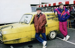 Del Boy and Rodney with Reliant Robin, Top Gear Reliant Robin Shuttle Rocket Launch, Model Rocket Store