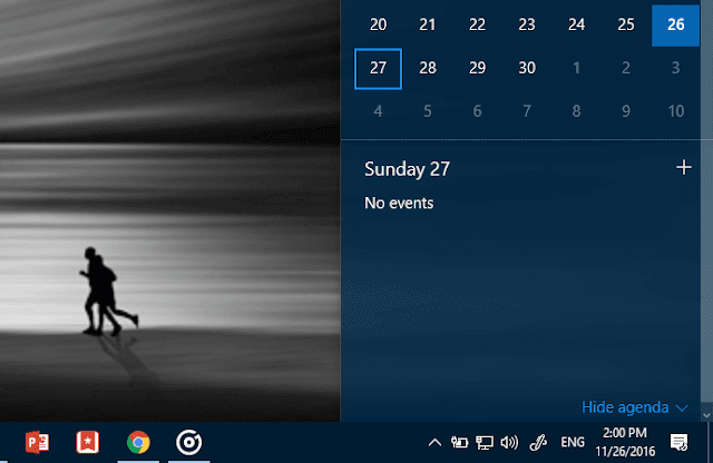 agenda windows calendar