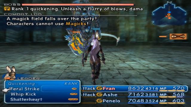 In combat screenshot Final Fantasy XII