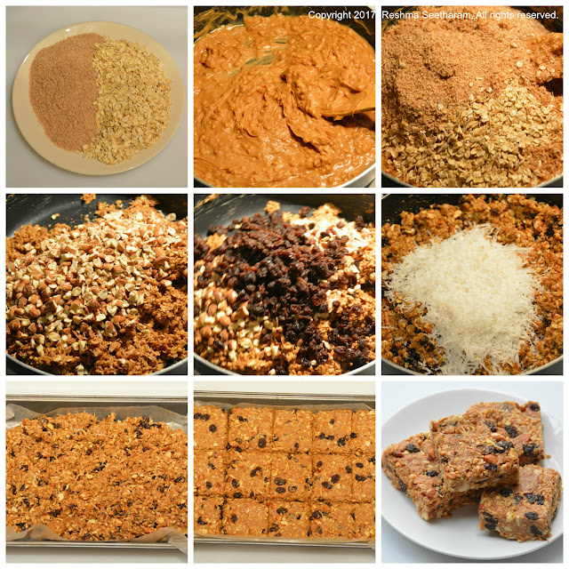 Oats and dry fruit energy bars